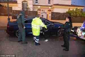 The victim's Audi is taken away